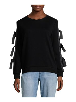 Alison Andrews Cord Sleeve Sweatshirt
