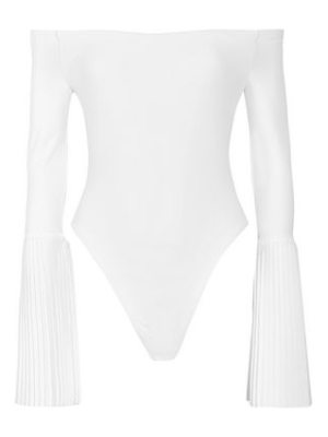 Alix off-the-shoulder pleated stretch