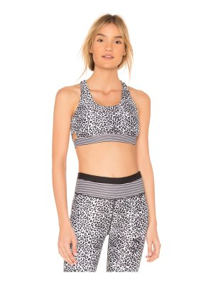All Fenix Striped Leopard Sports Bra
