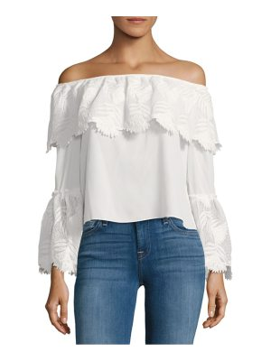 Allison New York Lace Bell Sleeve Top