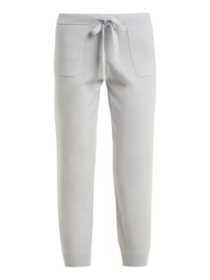 ALLUDE Drawstring-waist wool-blend trousers