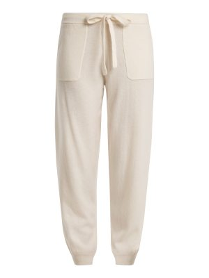 ALLUDE Tie-waist wool and cashmere-blend track pants