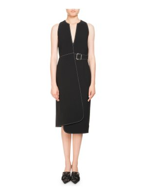 Altuzarra Alvina Sleeveless Asymmetric Wrap Dress