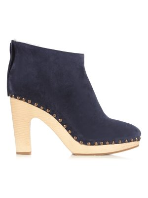 ALVARO Shearling-lined suede ankle boots