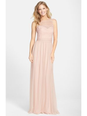 Amsale lace & tulle gown
