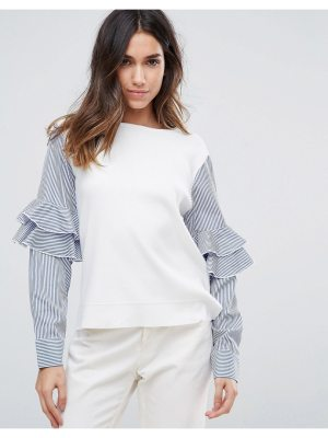 Amy Lynn Contrast Frill Sleeve Top