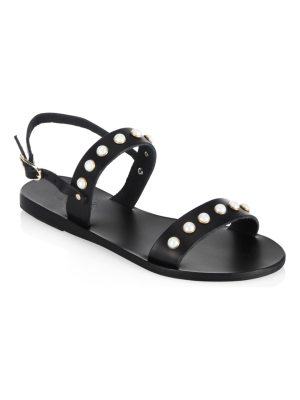 Ancient Greek Sandals clio pearls leather sandals