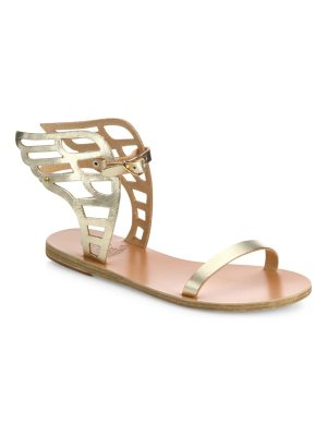 Ancient Greek Sandals ikaria lace metallic leather wing sandals