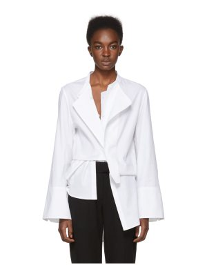 Ann Demeulemeester Exclusive White Rigatino Shirt
