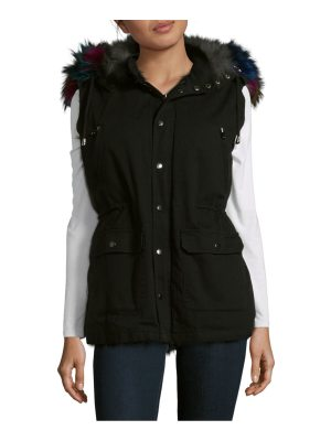 Annabelle New York Dyed Fox Trimmed Vest