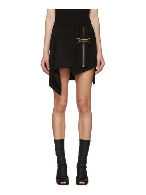Anthony Vaccarello Belted Asymmetrical Skirt