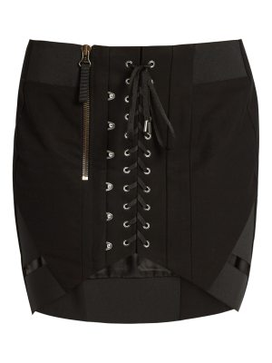 Anthony Vaccarello Corset-front cotton skirt