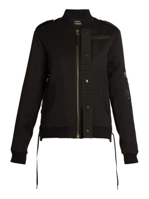 Anthony Vaccarello Lace-detail wool bomber jacket