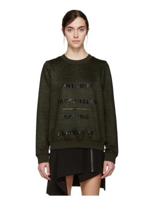 Anthony Vaccarello Logo Pullover