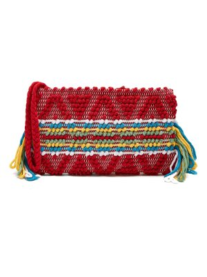 Antonello Tedde Piattina cotton horizontal stripe clutch