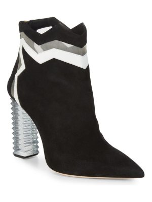 Aperlai Jagged Suede Ankle Boots