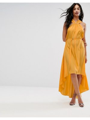 AQ/AQ AQ/AQ Halterneck Maxi Dress With Hardware Detail