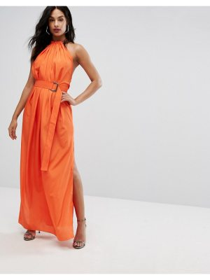 AQ/AQ aq/aq maxi dress with ruched detail and belt