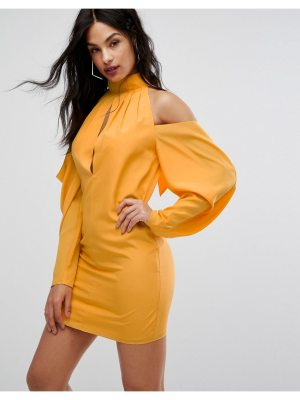 AQ/AQ AQ/AQ Mini Dress With Cold Shoulder Ruched Detail