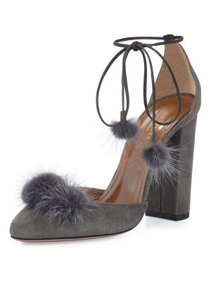 Aquazzura Wild Russian Mink Fur Pump