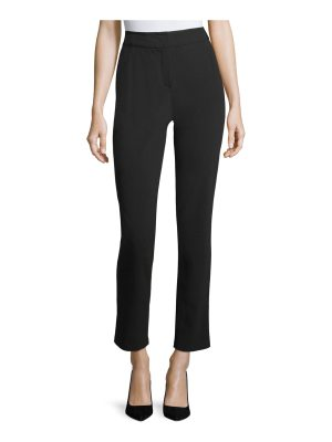 Armani Collezioni Black Magic Straight-Leg Ankle Pants