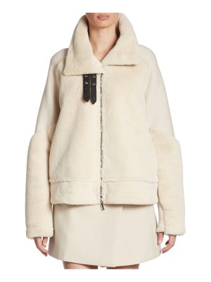 Armani Jeans faux fur and wool jacket