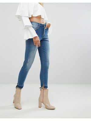 ARRIVE Skinny Jean with Stepped Hem and Shadow Pocket Detail
