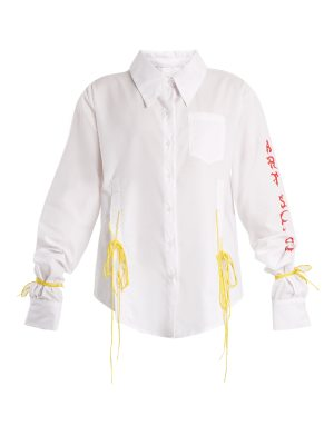 ART SCHOOL Acid oversized tie-side cotton shirt