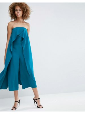ASOS Bandeau Jumpsuit with Ruffle Overlayer