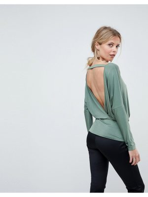 ASOS DESIGN asos batwing top with open back