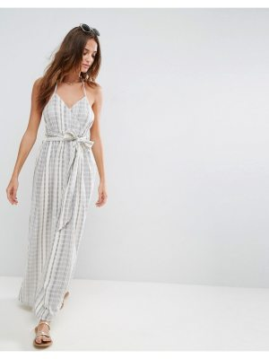 ASOS Beach Maxi Dress in Natural Fibre Stripe