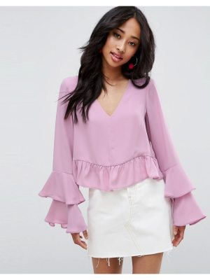 ASOS Blouse with Ruffle Sleeve