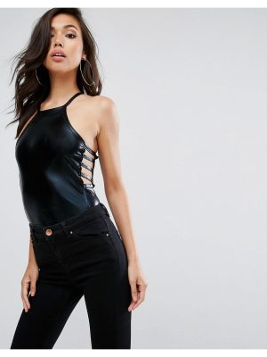 ASOS Body with High Neck in Lacquer Look