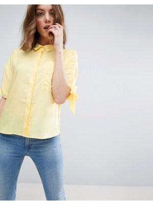 ASOS Boxy Casual Shirt with Tie Sleeve