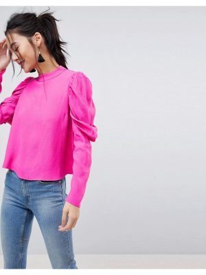 ASOS DESIGN Boxy Top with Exaggerated Sleeve