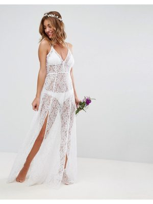 ASOS BRIDAL Beach Lace Maxi Dress