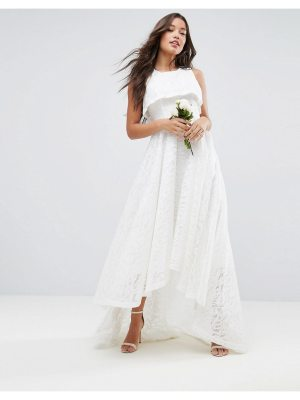 ASOS BRIDAL High Crop Lace Maxi Dress