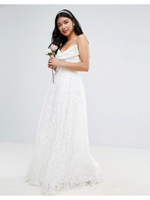 ASOS BRIDAL Lace Bow Front Maxi Prom Dress