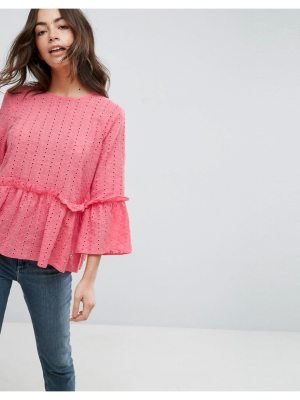 ASOS Casual Smock Top In Broderie