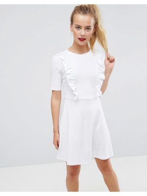 ASOS DESIGN cotton smock dress with frill details