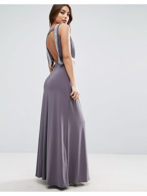 ASOS Drape Back Sparkle Maxi Dress