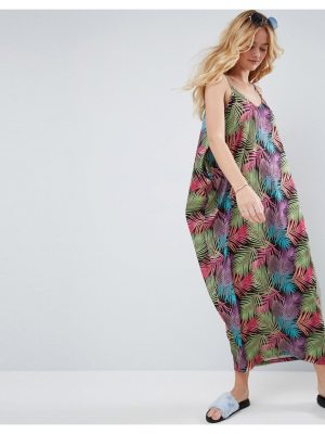 ASOS Drape Hareem Maxi Dress in Palm Print
