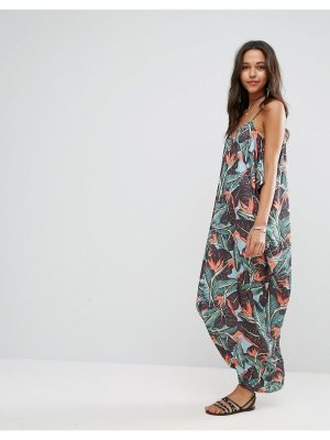 ASOS Drape Hareem Maxi Dress in Tropical Print