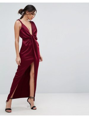 ASOS Drape Satin Maxi Dress