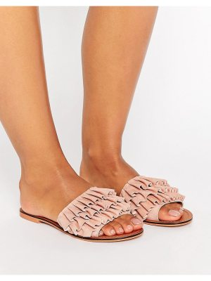 ASOS FION Suede Ruffle Sliders