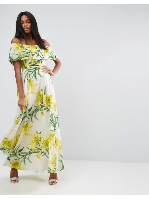 ASOS Floral Bardot Maxi Dress