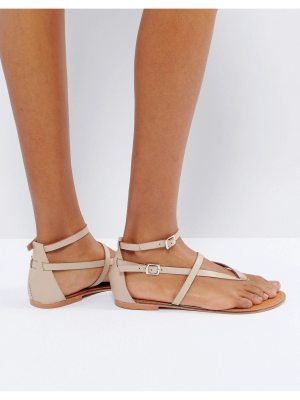 ASOS FORCEFUL Leather Flat Sandals