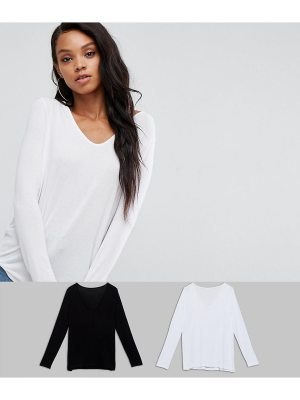 ASOS Forever T-Shirt with Long Sleeve 2 Pack