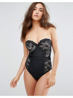 ASOS DESIGN fuller bust premium lace cupped swimsuit dd-g