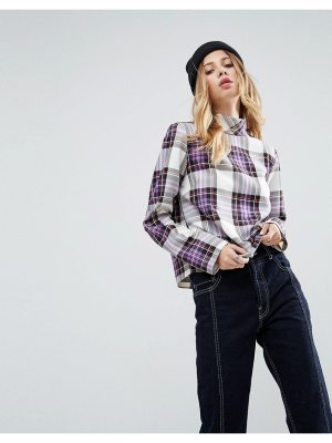 ASOS DESIGN asos funnel neck check top